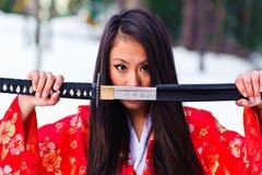 Mujer japonesa joven Fotos de archivo libres de regalías