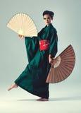 Mujer japonesa joven Foto de archivo libre de regalías