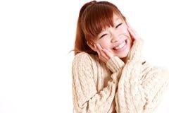 Mujer japonesa joven satisfecha Fotos de archivo