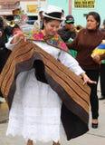 Mujer Jaujino del carnaval del baile Fotos de archivo
