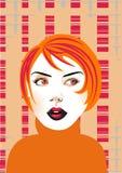 Mujer joven stock de ilustración