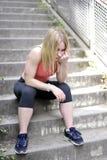 Mujer joven agotada Fotografía de archivo libre de regalías