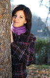 Mujer joven al aire libre en otoño Fotografía de archivo libre de regalías