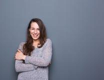 Mujer joven alegre Imagen de archivo libre de regalías