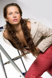Mujer joven atractiva Fotos de archivo libres de regalías