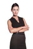 Mujer joven atractiva en desgaste clásico Imágenes de archivo libres de regalías