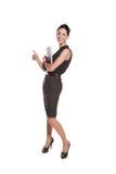 Mujer joven atractiva en desgaste clásico Imagen de archivo libre de regalías