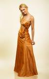 Mujer joven atractiva en vestido de noche. Retrato. foto de archivo