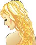 Mujer joven atractiva hermosa con el pelo justo largo imagen de archivo
