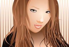 Mujer joven atractiva magnífica libre illustration