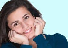 Mujer joven cómoda Imagen de archivo libre de regalías