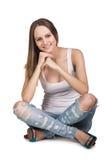 Mujer joven casual Fotografía de archivo