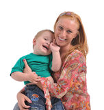 Mujer joven con el bebé Imagenes de archivo