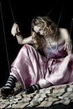 Mujer joven con el pelo de la belleza Fotografía de archivo libre de regalías