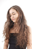 Mujer joven con el pelo largo Fotografía de archivo libre de regalías