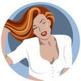 Mujer joven con el pelo largo Imagen de archivo libre de regalías