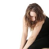 Mujer joven con la depresión Imágenes de archivo libres de regalías