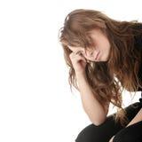 Mujer joven con la depresión Fotos de archivo