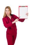 Mujer joven con la libreta imagen de archivo libre de regalías