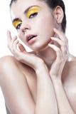 Mujer joven con la piel limpia Imagen de archivo