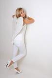 Mujer joven con las alas blancas Foto de archivo libre de regalías