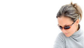 Mujer joven con las gafas de sol Fotos de archivo