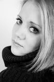 Mujer joven con los ojos hermosos Fotos de archivo