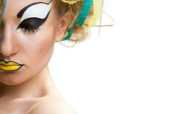 Mujer joven con maquillaje creativo Foto de archivo libre de regalías