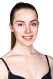 Mujer joven con maquillaje diario fresco Imagen de archivo libre de regalías