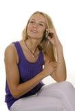 Mujer joven con práctico Imágenes de archivo libres de regalías