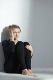 Mujer joven con trastorno alimentario Fotos de archivo