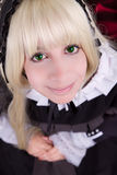Mujer joven cosplay hermosa en un traje. Foto de archivo libre de regalías