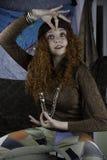Mujer joven de Beautifiul vestida como gitano Fotografía de archivo libre de regalías