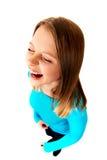 Mujer joven de griterío Imagen de archivo libre de regalías
