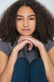 Mujer joven de la raza mixta de la muchacha interracial hermosa del adolescente Imagen de archivo libre de regalías