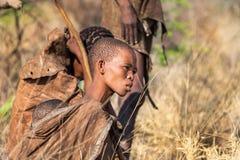 Mujer joven de los bosquimanos Foto de archivo
