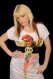 Mujer joven de moda Imagen de archivo libre de regalías