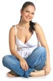 Mujer joven de risa Fotos de archivo libres de regalías