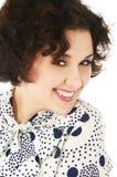Mujer joven de risa con el pelo rizado Imagen de archivo