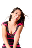 Mujer joven de risa feliz Imagen de archivo