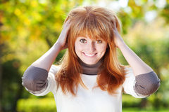 Mujer joven del adolescente del redhead Imagen de archivo libre de regalías