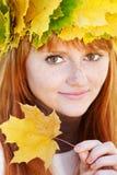 Mujer joven del adolescente del redhead Fotografía de archivo libre de regalías