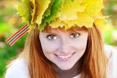 Mujer joven del adolescente del redhead Imágenes de archivo libres de regalías
