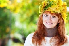 Mujer joven del adolescente del redhead Foto de archivo