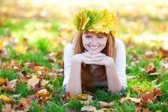 Mujer joven del adolescente del redhead Imagenes de archivo