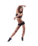 Mujer joven del deporte con el cuerpo perfecto de la aptitud Imagen de archivo