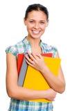 Mujer joven del estudiante. imágenes de archivo libres de regalías