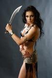 Mujer joven del guerrero Fotos de archivo