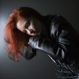 Mujer joven del Redhead. Imagenes de archivo