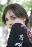 mujer joven del retrato   Fotografía de archivo libre de regalías